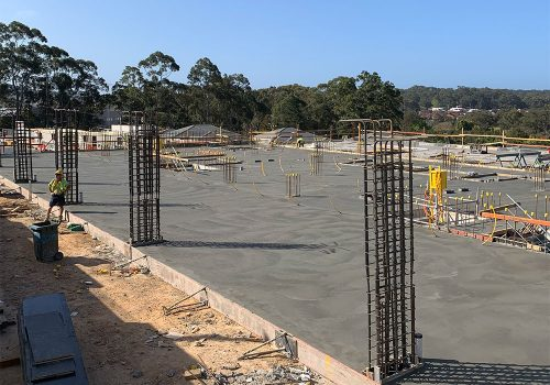Commercial concrete slab