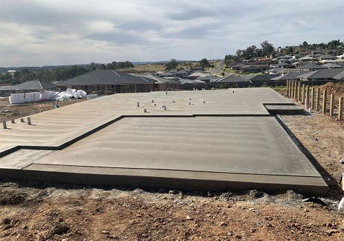 Residential house slab